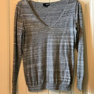Grey and black thin sweater